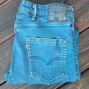 Levi's Mens 511 Stretch Jeans 38X32